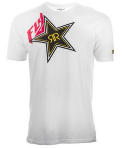 Fly Racing Rockstar T-Shirt (White, XX-Large)