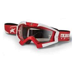 Ariete Riding Crows Basic Collection Goggles Red/White (Red, OSFM)