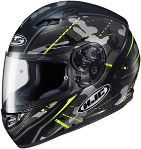 HJC CS-R3 Songtan Helmet Semi-Flat Hi-Viz Yellow (MC-3HSF) (Yellow, X-Large)