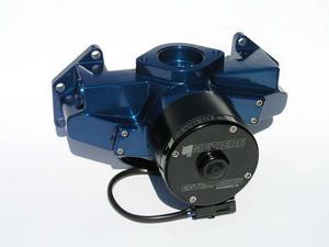 MEZIERE Blue Aluminum Hi-Flow 300 Series Electric Water Pump Kit BBM P/N WP306B