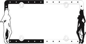 Cruiser Accessories 19000 Fashion License Plate Frame