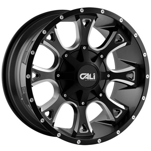 "4-Cali 9103 Anarchy 20x9 5x5.5""/5x150 +18mm Black/Milled Wheels Rims 20"" Inch"