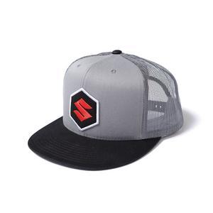 Factory Effex Suzuki Mark Snapback Trucker Hat Black/Grey 18-86400