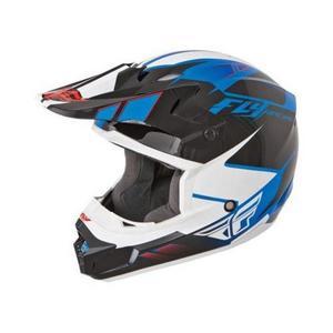 Fly Racing 73-4733 Visor for Kinetic Impulse Helmet - Blue/Black/White