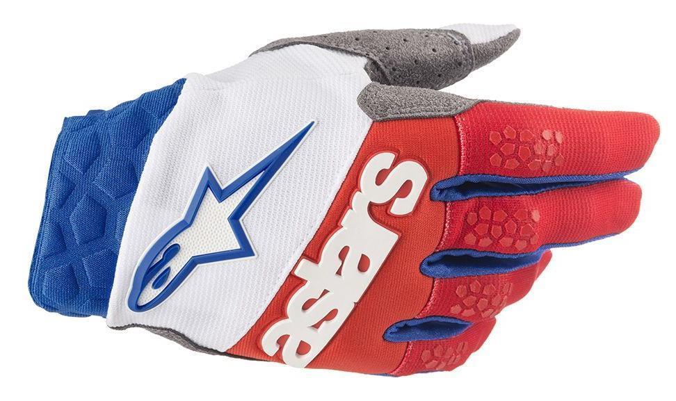 Alpinestars Racefend Gloves White/Red/Blue (White, Small)