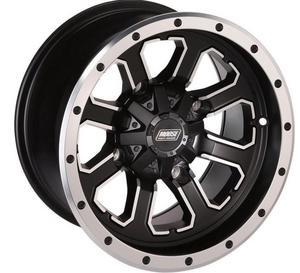 Moose Utility 0230-0740 548X Front Wheel - 14x7 - 4+3 Offset - 4/110 - Black