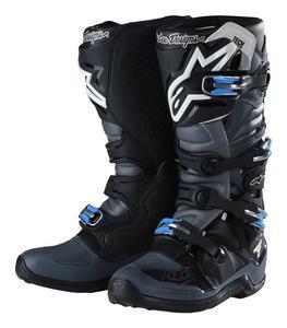 Troy Lee Designs Alpinestars Tech 7 Boots Black/Grey Adult Size 12