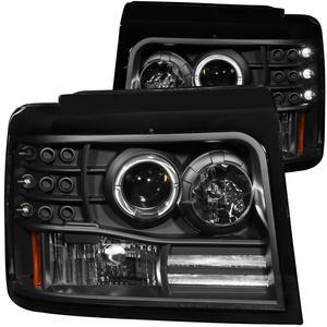 Anzo USA 111184 Projector Headlight Set w/Halo Fits Bronco F-150 F-250 F-350