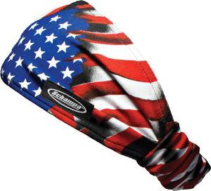 Schampa Mini-Doo-Z Headband American Flag (Red, OSFM)