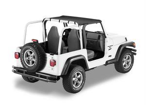 Bestop Header Bikini Top, Targa-style - Jeep 1997-2002 Wrangler; Targa