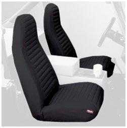Bestop Seat Covers Pair High Back Bucket 92-94 Jeep Wrangler YJ Black Denim