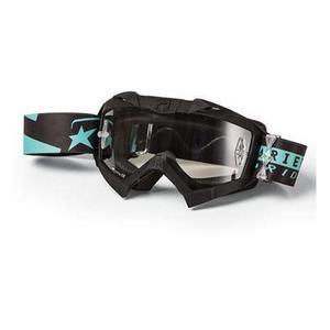 Ariete Adrenaline Senior Collection MX Goggles Black/Light Blue (Black, OSFM)