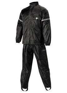 Nelson-Rigg WP-8000 WeatherPro 2-Piece Rain Suit Black/Black (Black, XXX-Large)