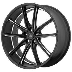 "4-Adventus AVX-10 22x9 5x120 +15mm Black/Milled Wheels Rims 22"" Inch"