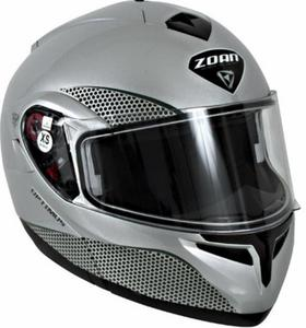 Zoan Optimus Solid Snow Helmet with Double Lens Shield (Silver, X-Small)