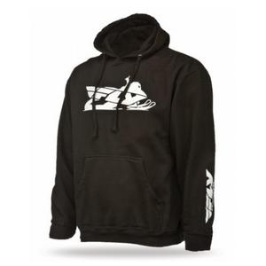 Fly Racing 2014 Adult Hoody Primary Snow Black Hoodie Size Extra Large XL