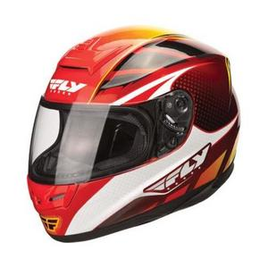 Fly Racing Paradigm Classic Helmet Red/Yellow (Red, X-Small)