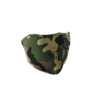 Zan Headgear Half Face Mask Camo (Green, OSFM)