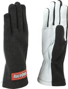 RACEQUIP 1 Layer XL Black/White 350 Series Driving Gloves P/N 350006