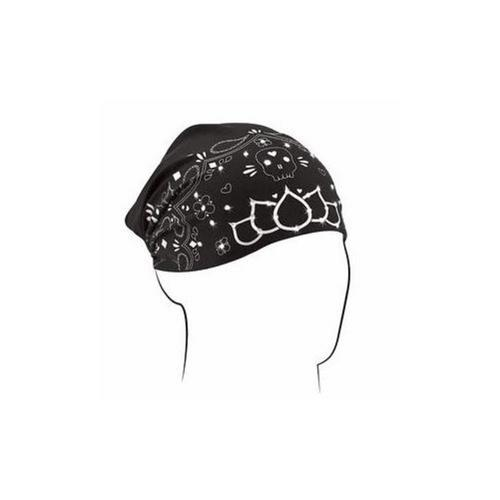 Zan Headgear Highway Honey Bamboo Womens Headwrap Skull Black Rhinestone (Black)
