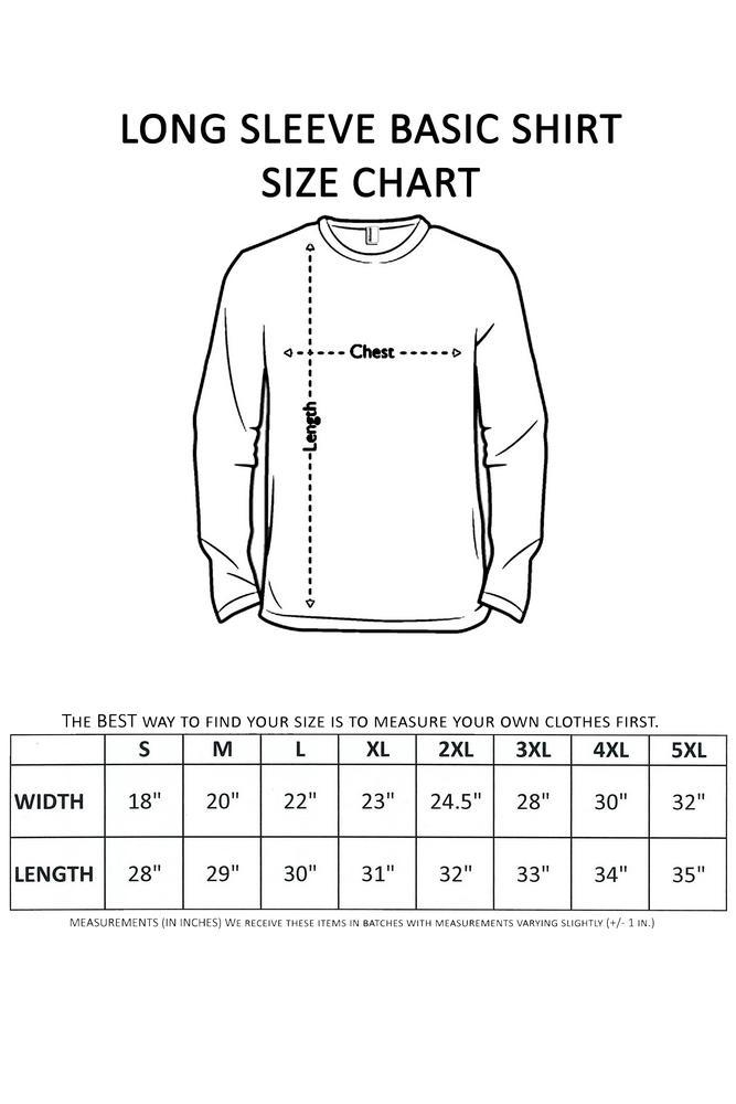 Men's/Unisex Biker Rebel Til I Die Skull ROYAL Long Sleeve T-shirt (XL)