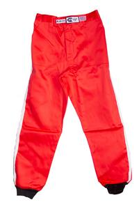 RJS SAFETY Large Red Single Layer Driving Pants P/N 200020405