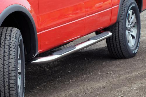 Dee Zee DZ3700293 Stainless Steel Side Steps Universal 3 in. Round Cab Length