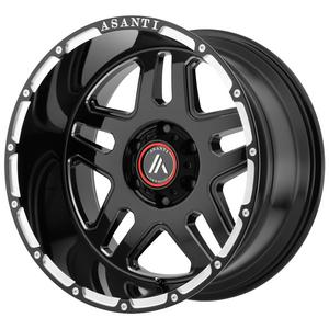 "4-Asanti AB809 Enforcer 22x10 8x180 -18mm Black/Milled Wheels Rims 22"" Inch"