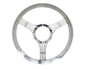 BILLET SPECIALTIES 14 in Polished Aluminum Banjo Steering Wheel P/N 30925