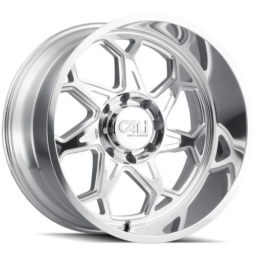 "4-Cali Off-Road 9111 Sevenfold 20x10 8x170 -25mm Polished Wheels Rims 20"" Inch"