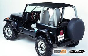 Bestop Bikini Safari Version 92-95 Jeep Wrangler YJ Black Denim 52529-15