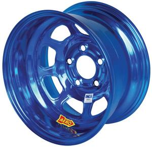 AERO RACE WHEELS 52-Series 15x8 in 5x5.00 Blue Chrome Wheel P/N 52-985040BLU