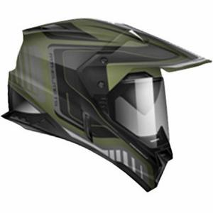 Zoan Synchrony Duo-Sport Tourer Graphics Helmet Camo Green (Green, Medium)