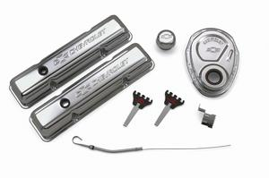Proform 141-001 GM Engine Dress-Up Kit; Chevrolet And Bow Tie Emblem
