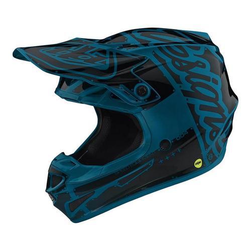 Troy Lee Designs SE4 Polyacrylite Factory Helmet Ocean (Blue, Medium)