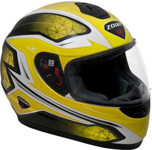 Zoan Thunder Electra Graphics Youth Helmet (Yellow, Large)