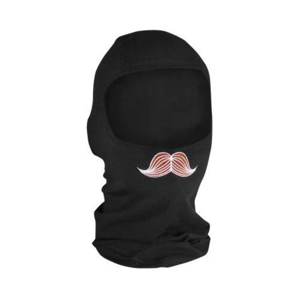 Zan Headgear Full Face Mask - Bamboo Balaclava Mustachio (Black, OSFM)