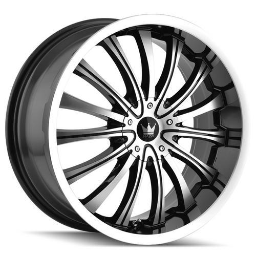 "4-Mazzi 351 Hype 20x8.5 5x105/5x4.5"" +35mm Black/Machined Wheels Rims 20"" Inch"