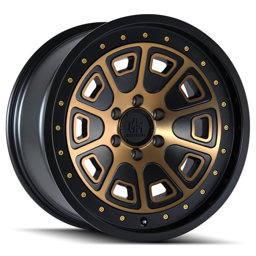 """4-Mayhem 8301 Flat Iron 17x9 6x135 -6mm Bronze/Black Wheels Rims 17"""" Inch"""