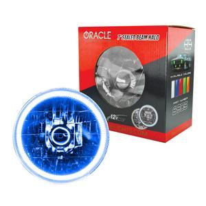 Oracle Lighting Tech Blue Halo LED Ring Sealed Beam Headlight P/N 6905-002