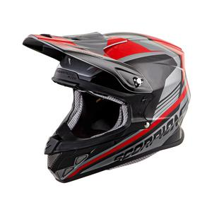 Scorpion EXO VX-R70 Offroad Helmet Ascend Silver/Red Adult Size XL