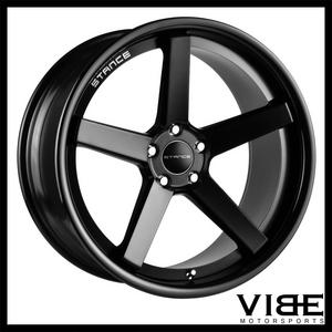 "20"" STANCE SC5 BLACK CONCAVE WHEELS RIMS FITS MERCEDES W215 CL500 CL55 CL65"