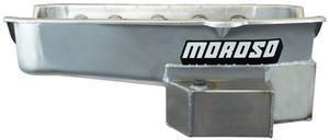 Moroso SBC Steel 7 qt Rear Sump Road / Drag Race Engine Oil Pan P/N 21815
