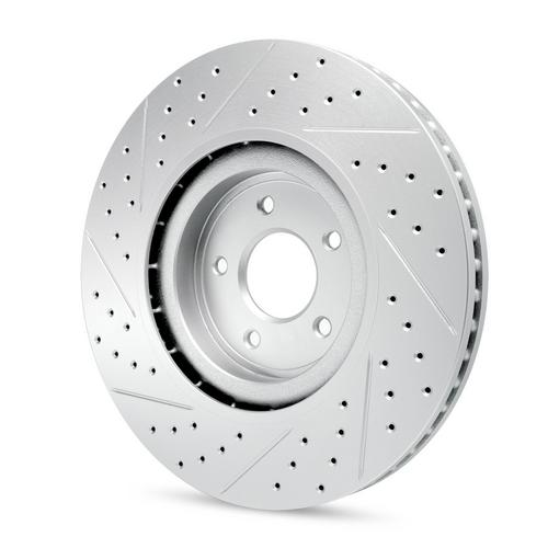 Ceramic Brake Pads Front+Rear R1 Carbon Geomet Drill//Slot Brake Rotors