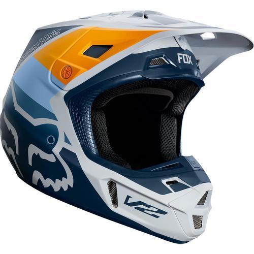 Fox V2 Murc Helmet Blue Steel (Blue, Medium)