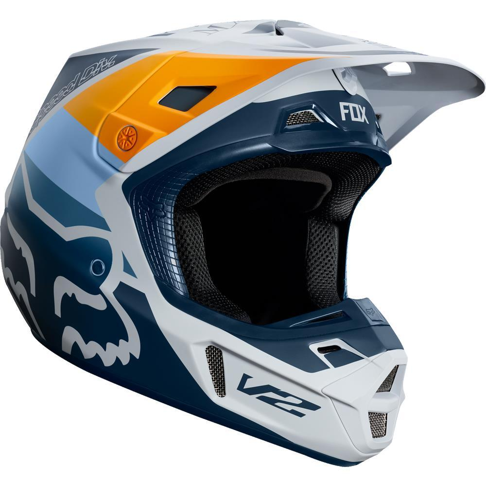 Fox V2 Murc Helmet Light Gray (Gray, Medium)
