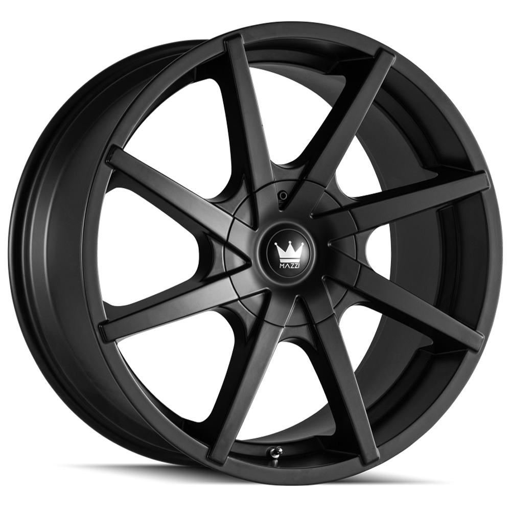 "4-Mazzi 369 Kickstand 20x8.5 5x112/5x120 +35mm Matte Black Wheels Rims 20"" Inch"