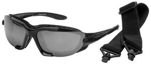 BikeMaster Windscreen Convertible Sunglasses Kit Black / Smoke Lens (Black, OSFM)
