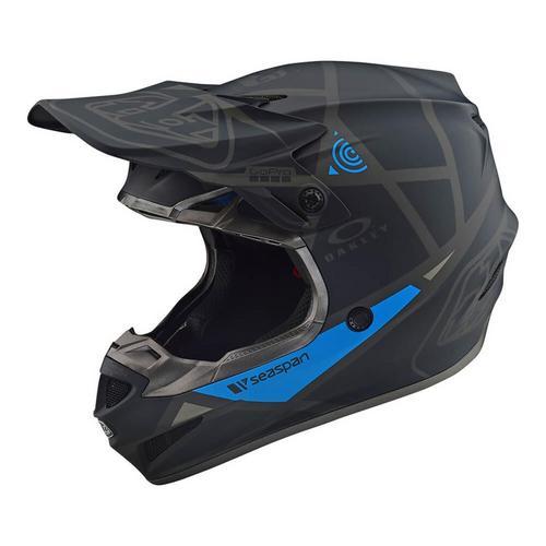Troy Lee Designs SE4 Polyacrylite Metric Helmet (Black, Medium)