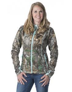 DSG Performance Fleece Womens Jacket Realtree/Aqua (Brown, Large)